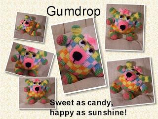 gumdrop crochet flowerumi bear pattern