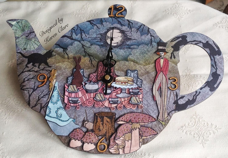 Craft time craft stamper october edition alice in for Alice in wonderland crafts