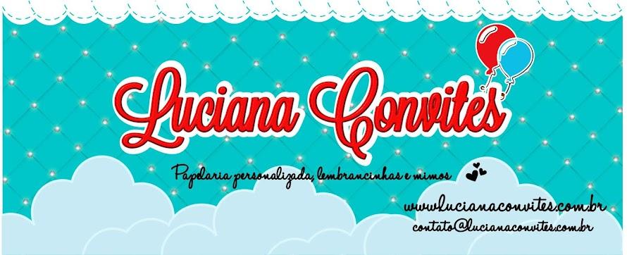 Luciana Convites Infantis Temáticos - LEMBRANCINHAS
