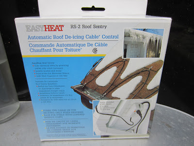 Eavestrough ice dam de-icer heater cables Scarborough North York Toronto