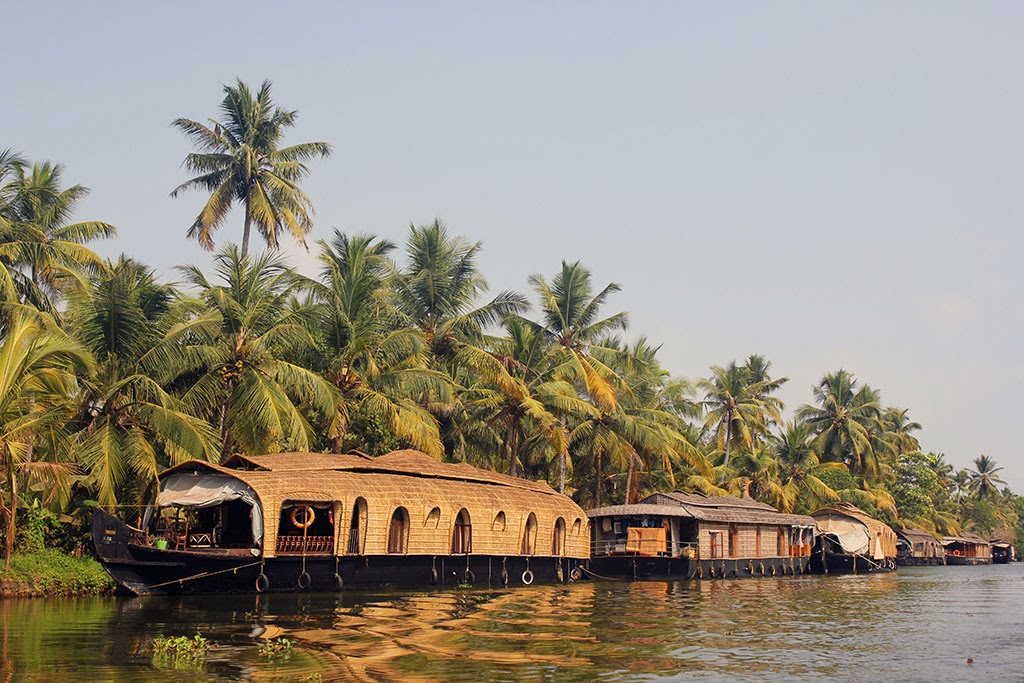 A house boat on the Kerala backwaters