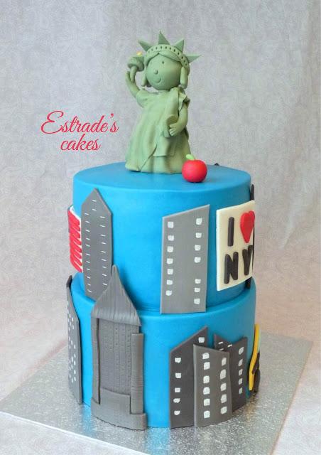 tarta de Nueva York con fondant 1