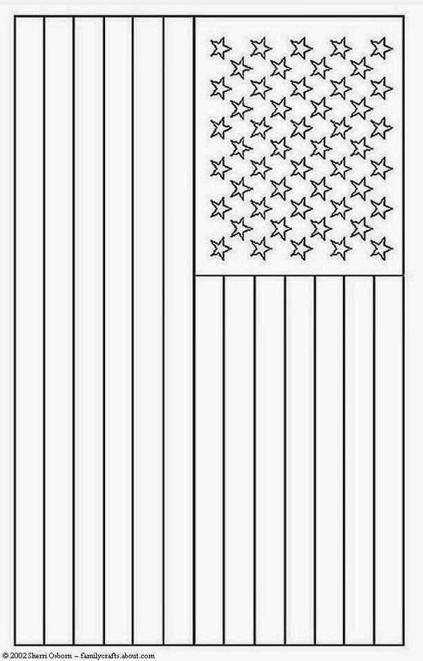 Coloring Pages For Usa Flag : American flag coloring page for preschool free