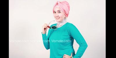 Cara Memakai Jilbab Pashmina Turban Retro