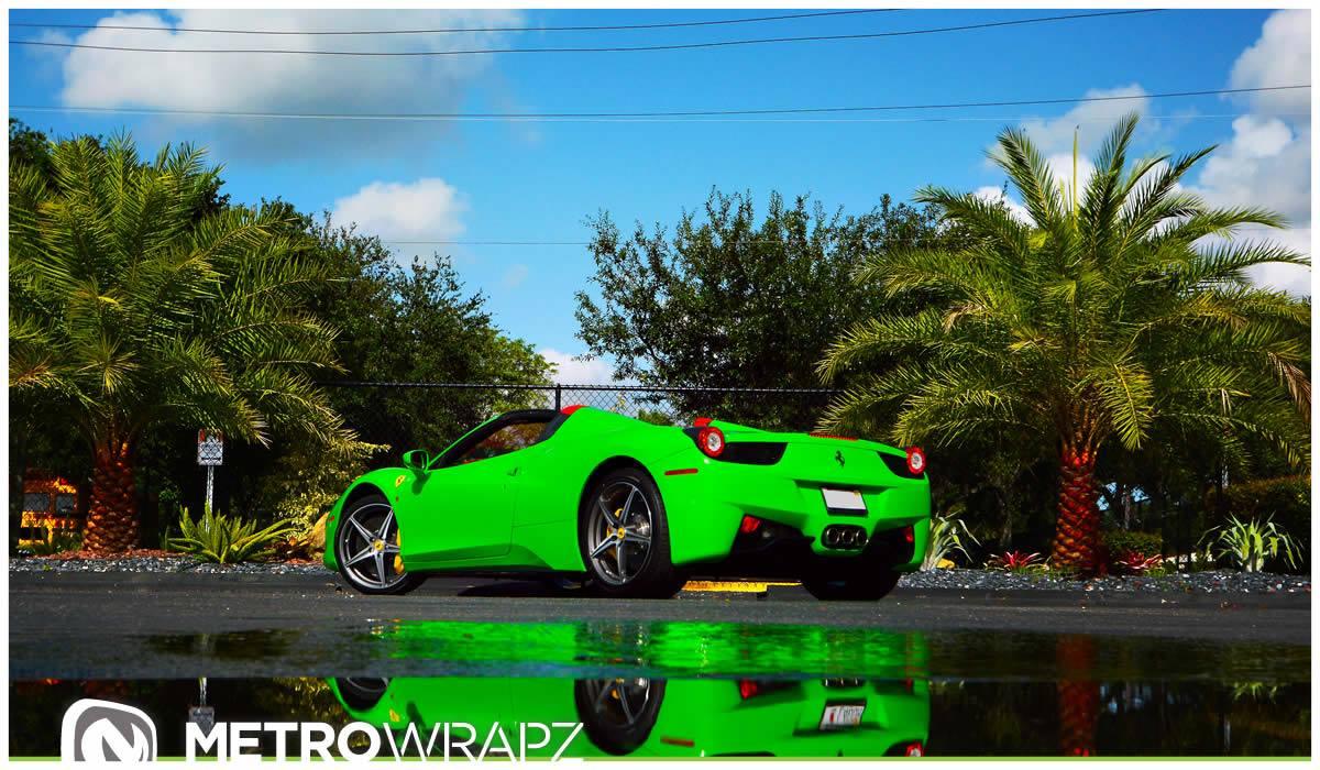 photo gallery - Ferrari 458 Spider Green