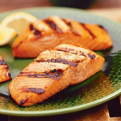 Taku Lodge Basted Grilled Salmon
