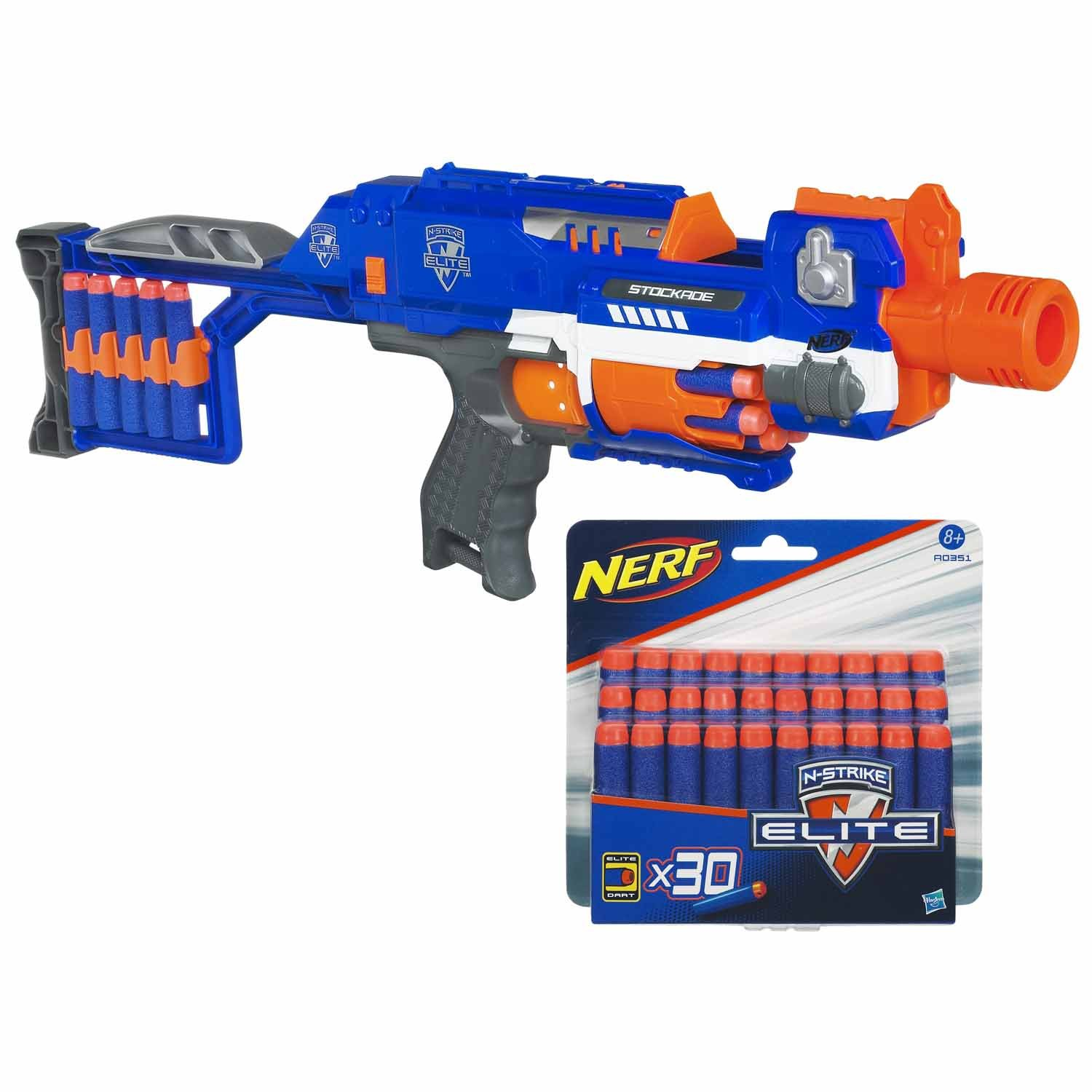 """Listed on the UK Toys R Us website is the lesser known Elite version of the N Strike Barricade As mentioned before it s called the """"Stockade"""" perhaps"""