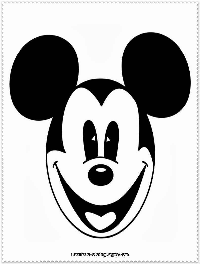 Mickey Mouse Coloring Pages Realistic