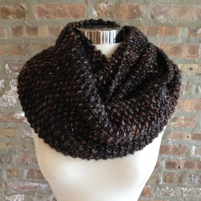 Infinity Scarf Knitting Pattern Size 13 Circular Needles : Clementine Knits: Clementine Knits Seed Stitch Infinity ...