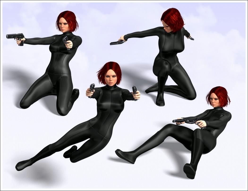 3d Models Art Zone - Premium HandGun Poses