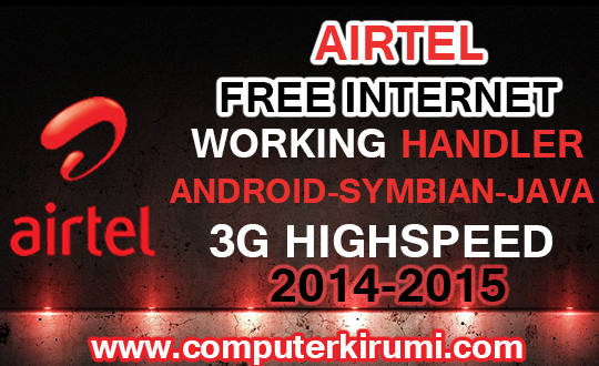 airtel free internet 3G highspeed handler tricks working 2014 2015