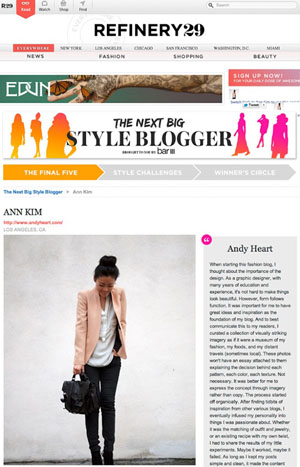 R29'S STYLEBLOGGER OF THE YEAR