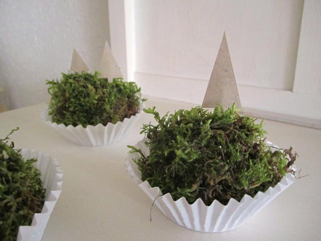 DIY natural moss cupcakes Srta Malasuerte