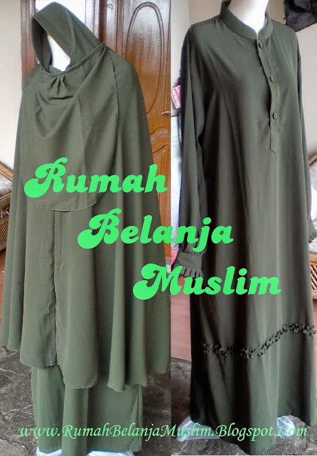 Model Gamis Muslimah Hijau