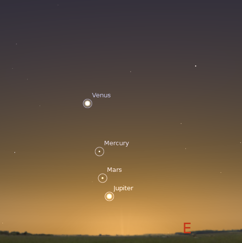 Mars still be visible in night sky for next few months