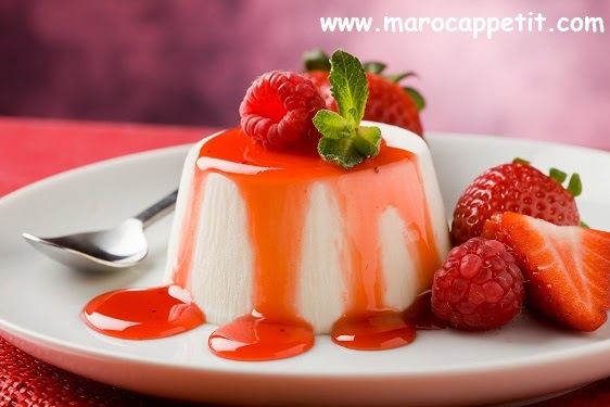Panna Cotta aux fraises | Panna cotta with strawberries