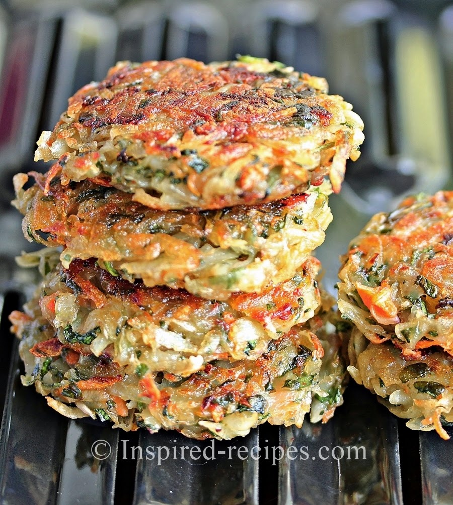 Homemade Hash Browns with Spinach and Carrot ~ Inspired Recipes