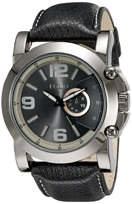 Folio Men's FMDMSG043 Analog Display Quartz Black Watch