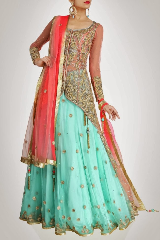 Mehta bridal and occasional wear wedding dress designs collection 2014