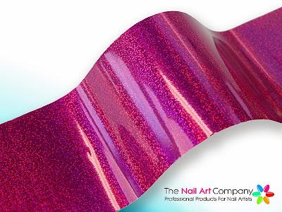 Fuchsia Champagne Nail Art Transfer Foil NTF-NA-041