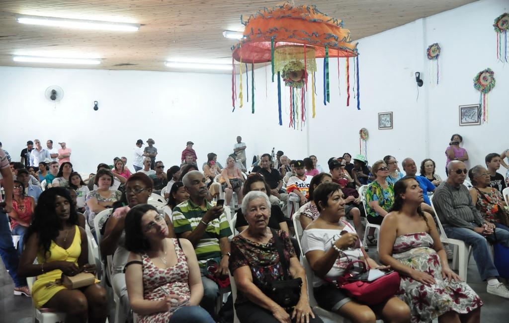 O Grêmio Recreativo Guapiense ficou lotado para receber o Cultura de Raiz itinerante