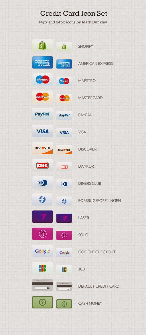 32 Free Credit Card Icons Set