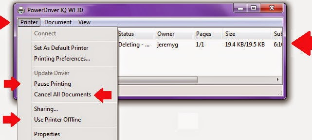 Use Epson Printer Offline