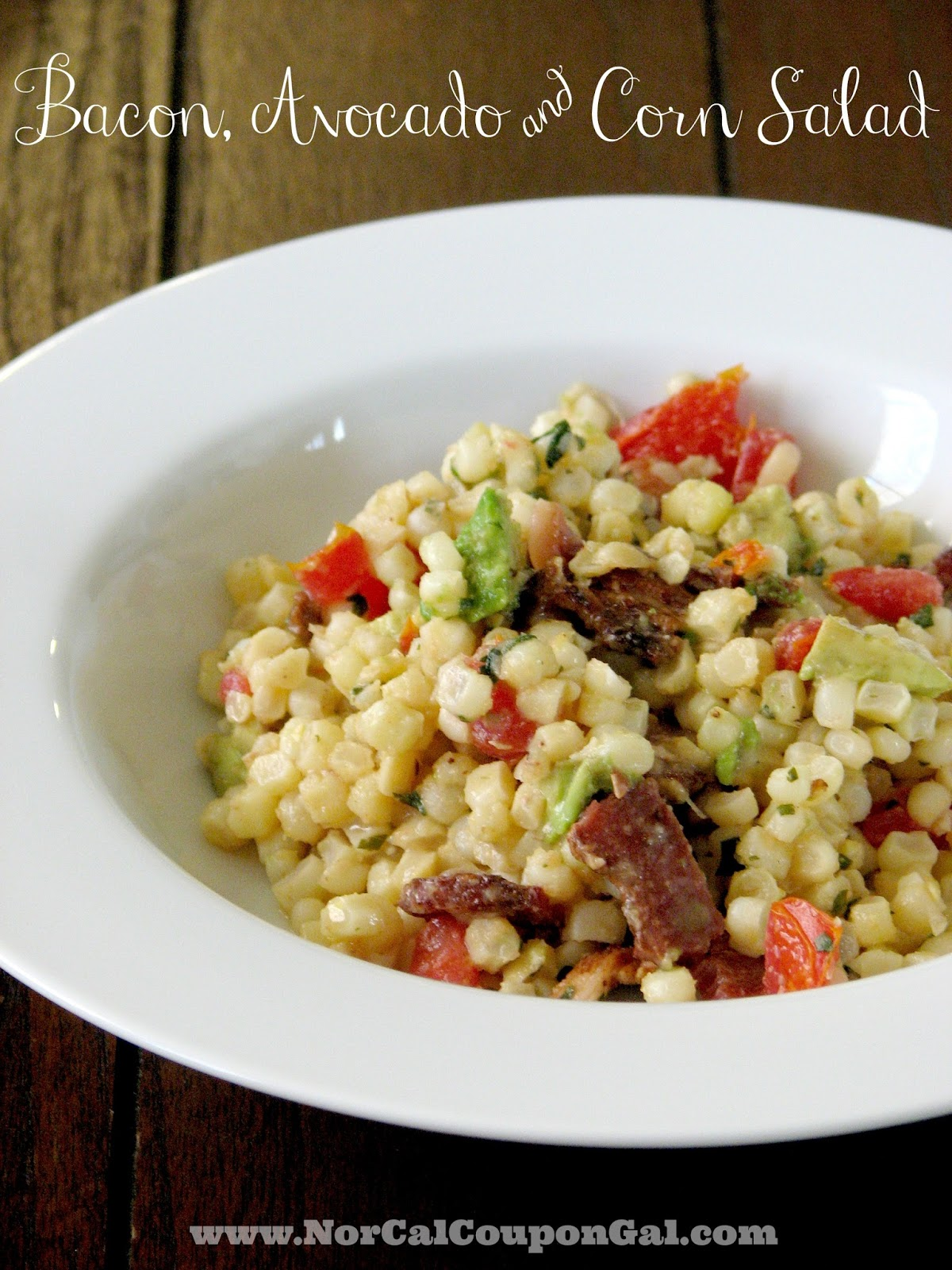 In The Kitchen With Mom Mondays – Bacon, Avocado & Corn Salad
