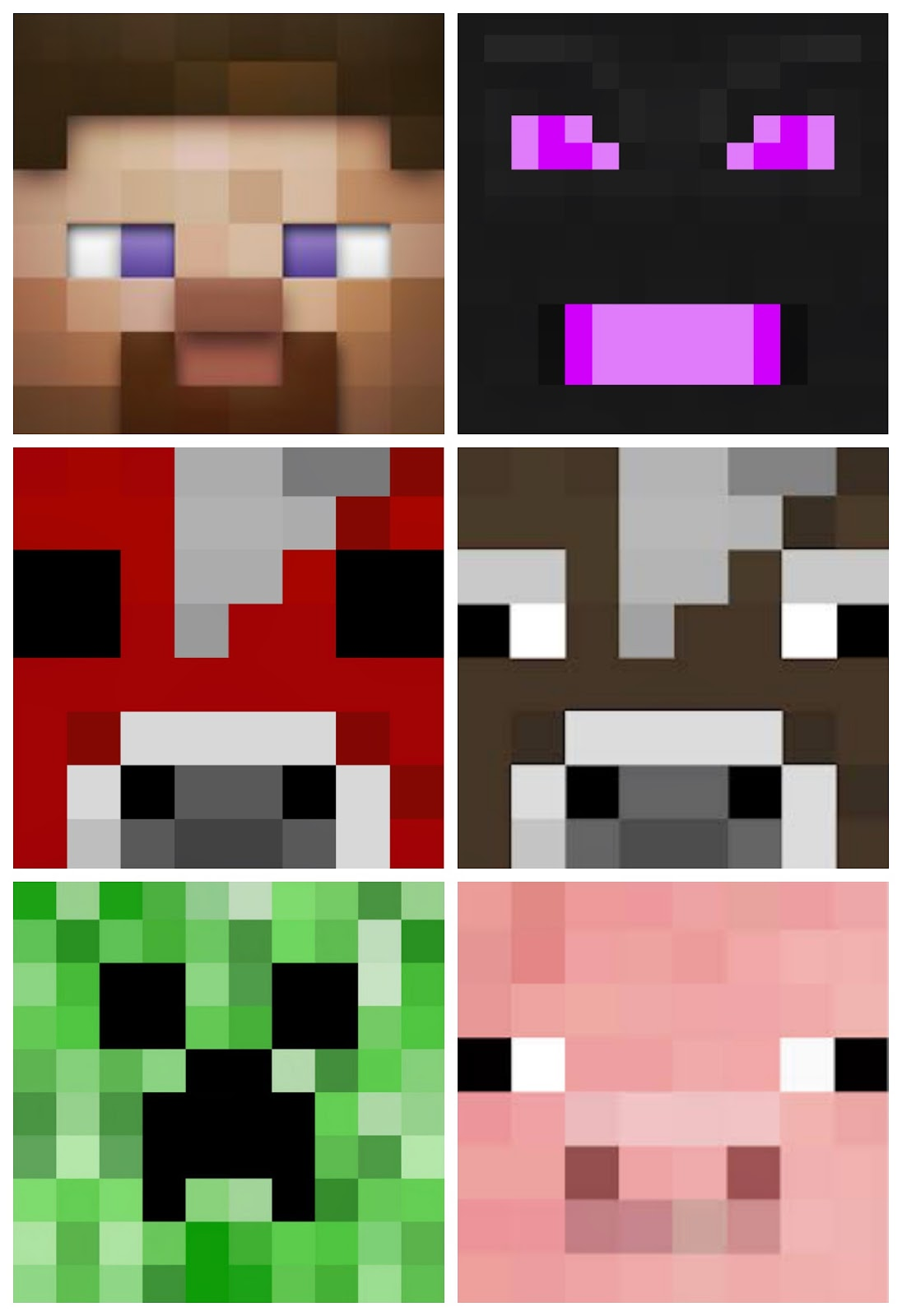 minecraft character faces - Buscar con Google | Minecraft Party ...