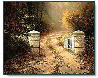 Thomas Kinkade Autumn Gate
