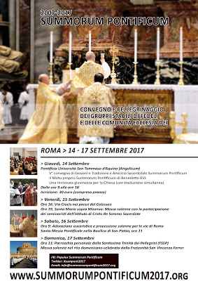 """VI PELLEGRINAGGIO """"Populus Summorum Pontificum"""""""