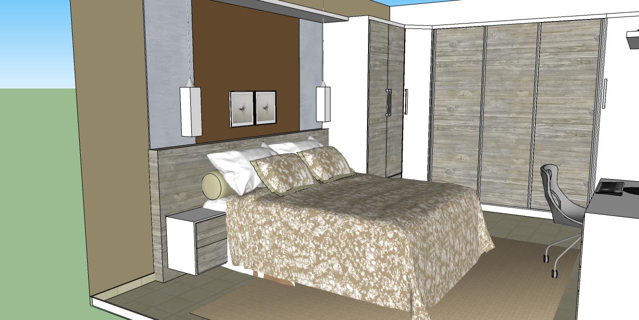 Decoração de Interiores Casa QUARTO CASAL