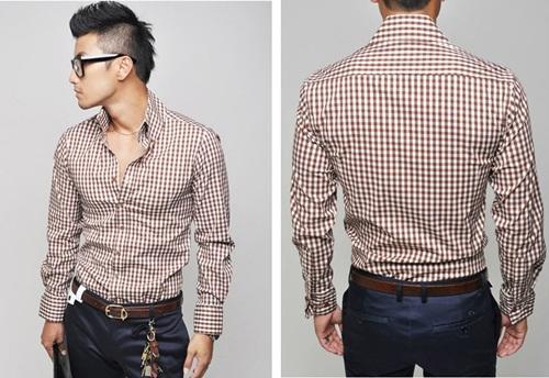 camisas slim fit masculinas xadrez