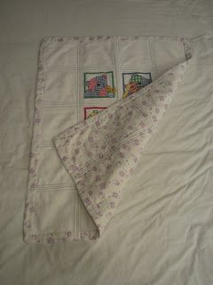 Teddy afghan reverse and quilting