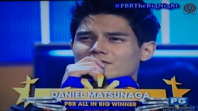 Daniel Matsunaga, named PBB All In Edition's Big Winner