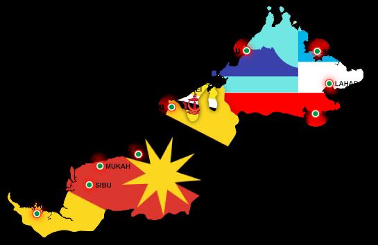 Peta Borneo