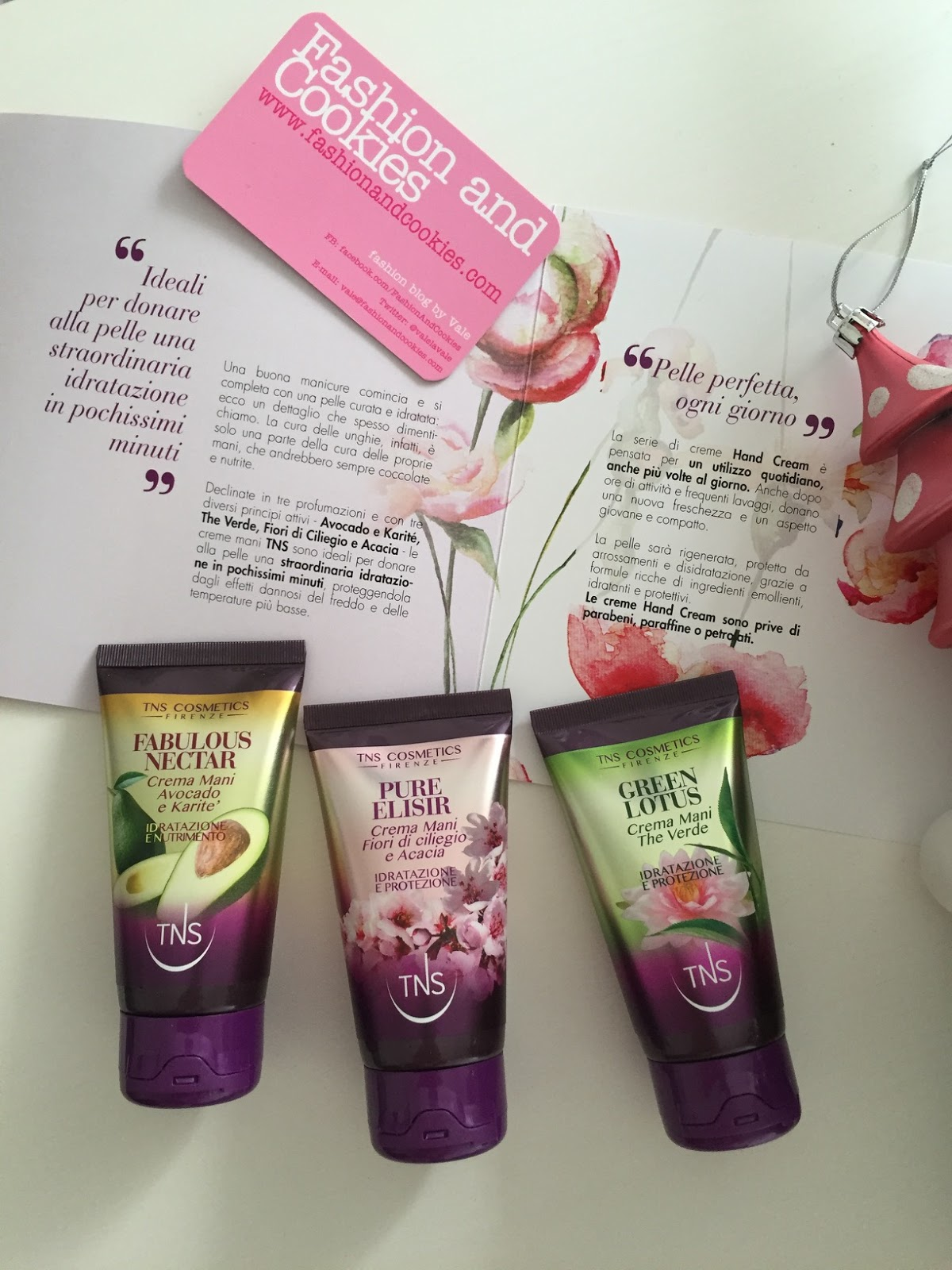 TNS Cosmetics by Tecniwork hand cream trio, creme mani TNS review su Fashion and Cookies beauty blog, beauty blogger