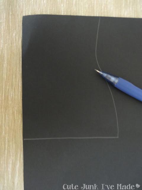 Homemade Wedding Card - Black paper stencil tracing