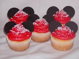 Cupcakes Minnie Mouse, parte 1