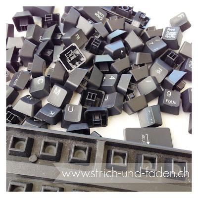 mit Strich und Faden | Upcycling Keyboard Magnet Tastatur