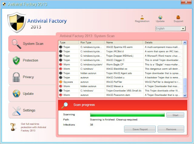 How to Get Rid of Antiviral Factory 2013 Malware Antispyware Free Spyware Removal Tool Anti Spyware Software spyware removal