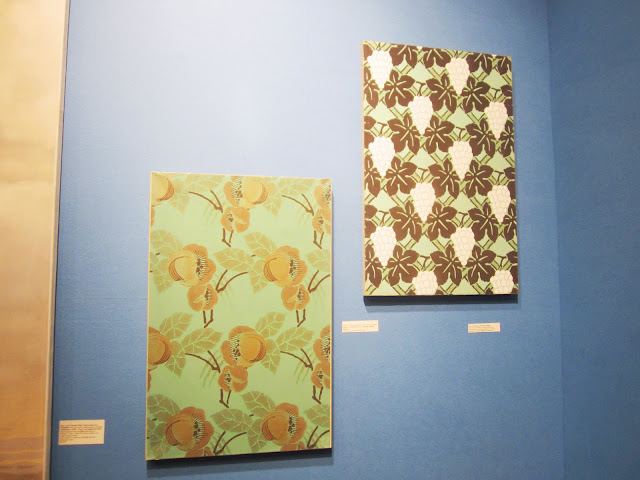 Some of the wallpaper panels at the Carolle Thibault-Pomerantz booth