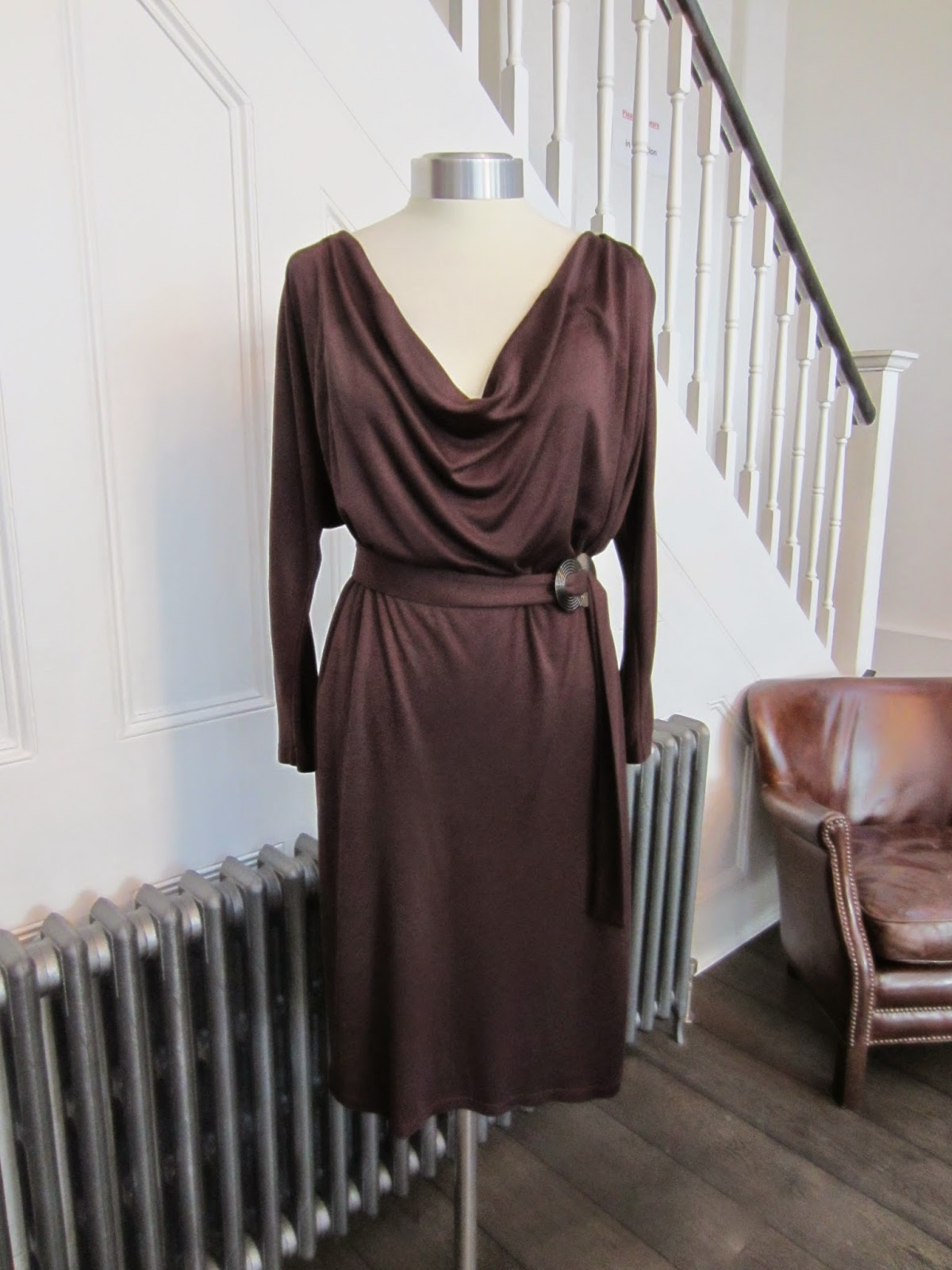 MaxMara Dark Brown Jersey Dress