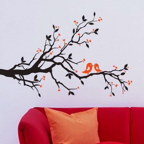 Wall Sticker untuk mempercantik dinding ruangan keluarga