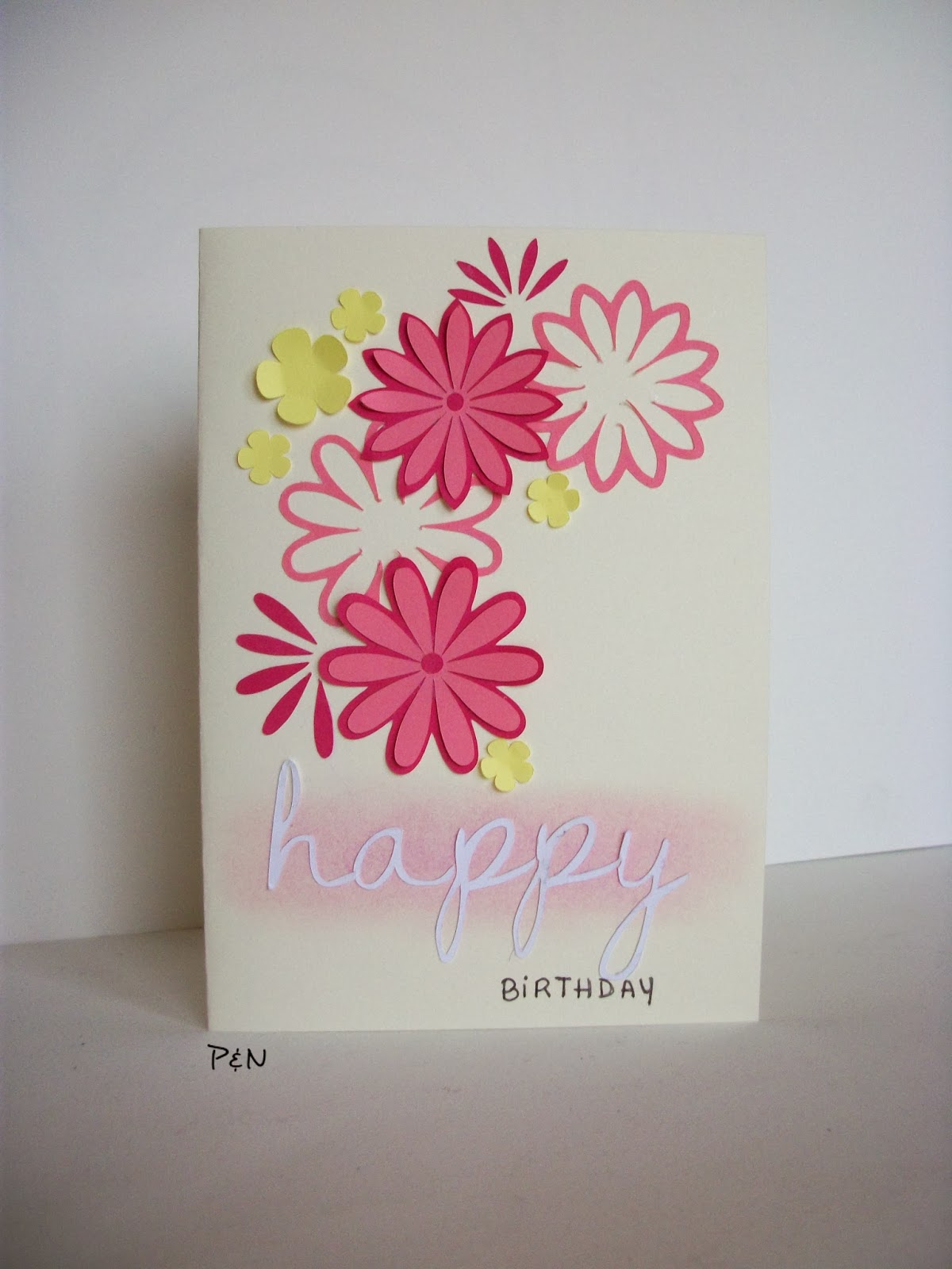 floral card by pumps&needles