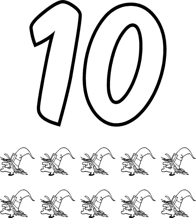 Vistoso Número 10 Para Colorear Imprimible Galería - Dibujos Para ...