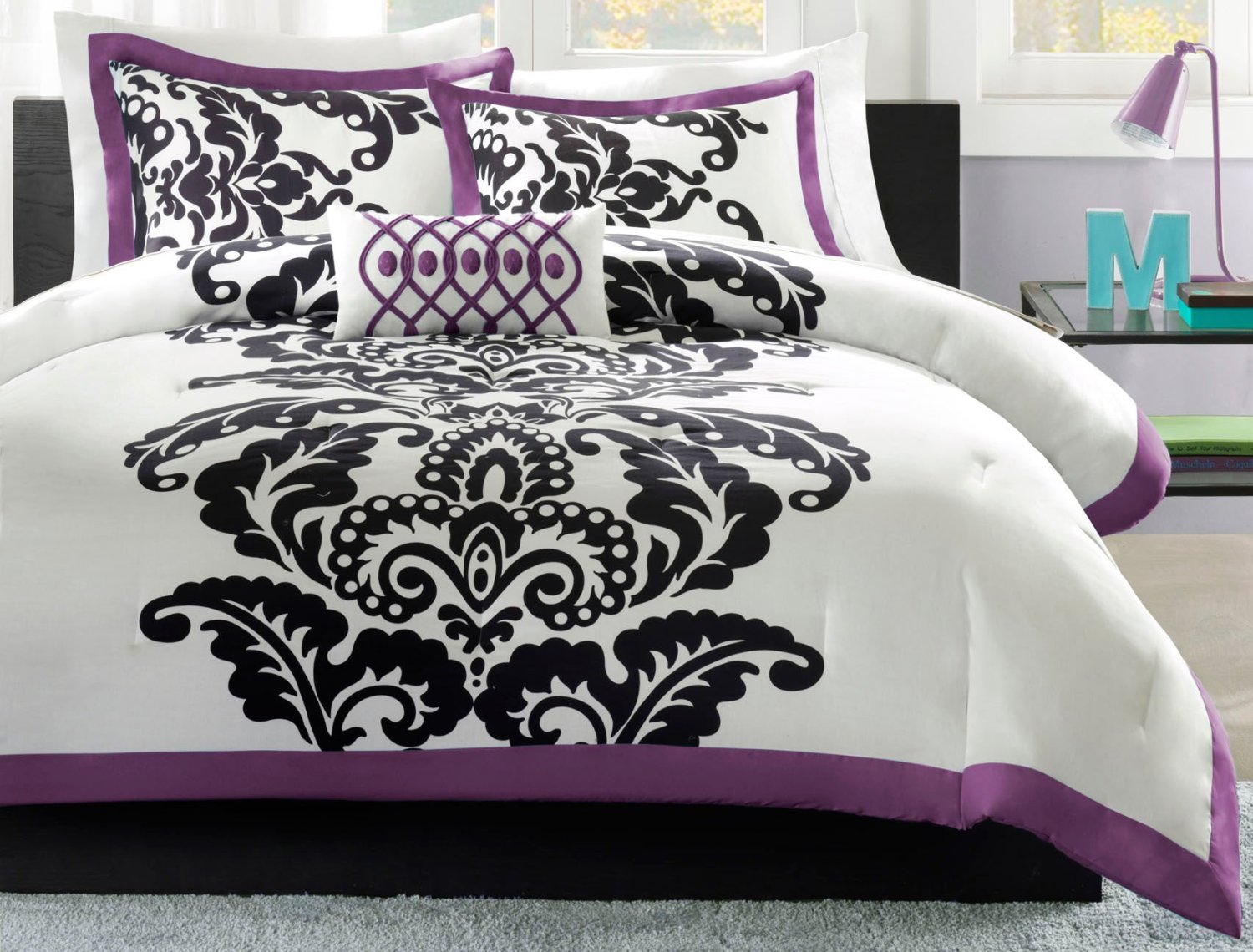 Black Damask Bedding Single