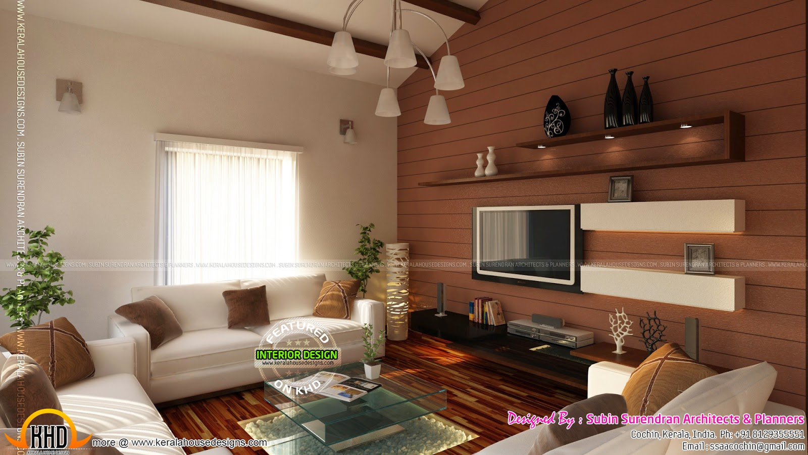 Beautiful home interior designs kerala home design and for Kerala home living room designs