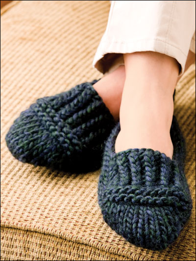 Knitting Pattern For Chunky Slippers : Designer Spotlight: Amy Polcyn, Author of Knit a Dozen Plus Slippers Creati...