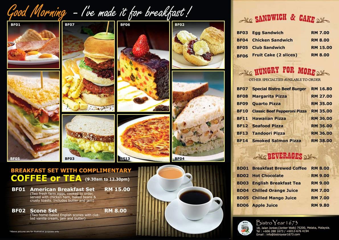 weikey's design collection: bistro breakfast menu design